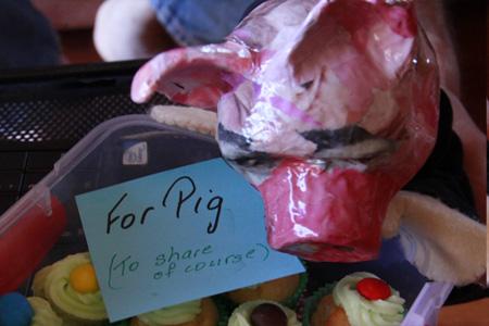pig pigging out